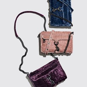 Rebecca Minkoff Berry Velvet Mini Mac Crossbody
